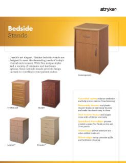 Bedside Stands Spec Sheet