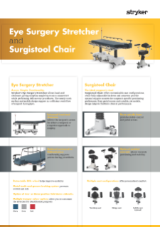 Eye Surgery Stretcher and Surgistool Chair Spec Sheet English