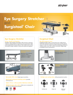 Eye Surgery and Surgistool Chair Spec Sheet