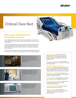 InTouch Critical Care Bed Spec Sheet