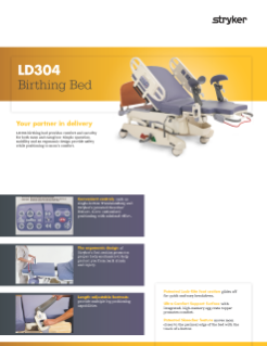 LD304 Birthing Bed Spec Sheet