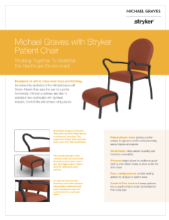 Michael Graves with Stryker Patient Chair Spec Sheet
