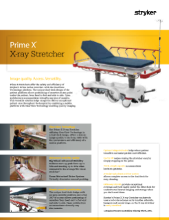 Prime X X-ray Stretcher Spec Sheet
