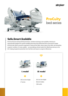 ProCuity bed series spec sheet