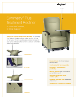 Symmetry Plus Treatment Recliner Spec Sheet