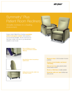 Symmetry Plus Patient Room Recliners Spec Sheet