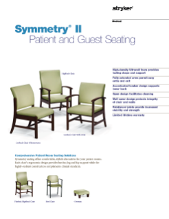 Symmetry II Patient and Guest Seating Spec Sheet