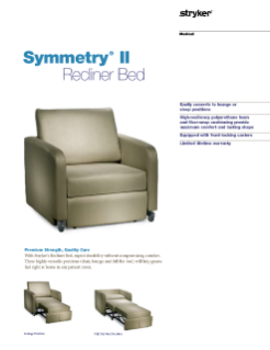 Symmetry II Recliner Bed Spec Sheet