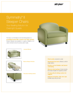 Symmetry II Sleeper Chairs Spec Sheet
