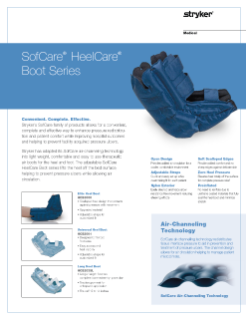 SofCare HeelCare Boot Series Spec Sheet