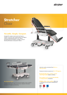 Stretcher Chair Spec Sheet English