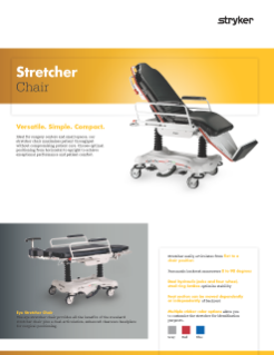 Stretcher Chair Spec Sheet