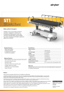 ST1 Spec Sheet