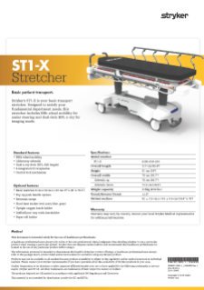 ST1-X Spec Sheet