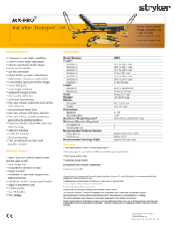 MX-PRO Bariatric Transport spec sheet