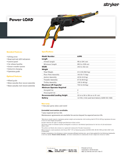Power-LOAD spec sheet
