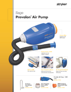 Sage Prevalon Air Pump brochure