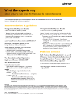 Staff injury risk due to turning & repositioning